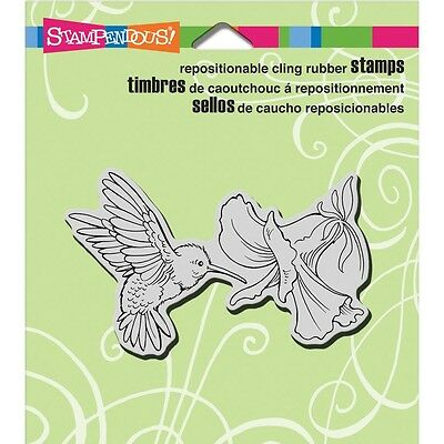 "Stampendous Cling Stamp 4.75""X4.5"" - Nectar Seeker"