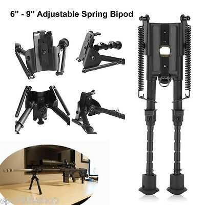 """6-9"""" Foldable Harris Style Tactical Rifle Spring Bipod for Hunting For 20mm Rail"""