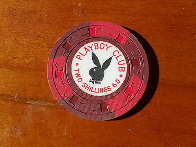 London Playboy Club two and five Shillings casino poker chip buy one for $20