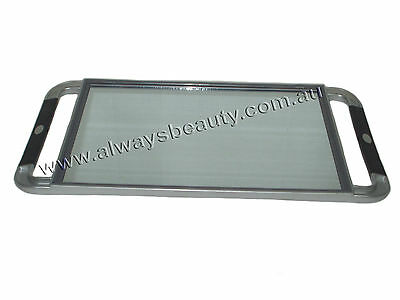 Silver Professional Hairdressing Mirror with Rubber Handle for Hair Beauty Salon