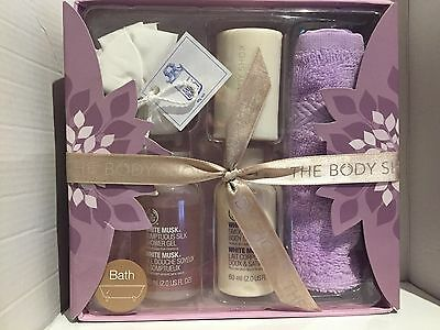The Body Shop ~ White Musk ~ 5 Piece Bath & Body Gift Set ~ Brand New