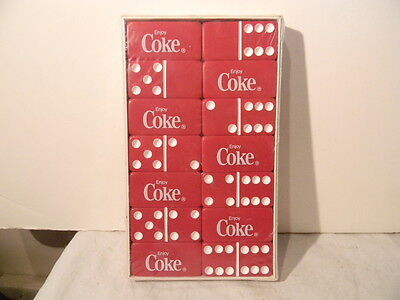 Vintage Coca Cola Enjoy Coke Dominoes Mint Never Removed From Box Super Nice