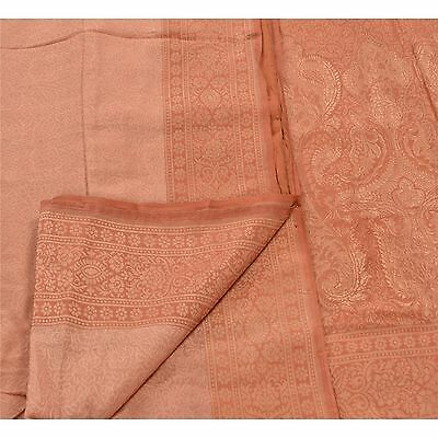 Sanskriti Antique Vintage Saree 100% Pure Silk Peach Woven Fabric Premium Sari