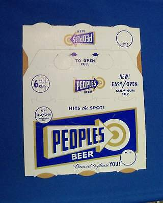 Peoples Brewery new never unfolded 6 pack case, Vintage Oshkosh Wisconsin, Rare!
