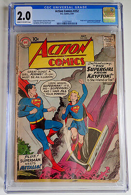 Action Comics #252 CGC 2.0 ~ Origin/1st appearance of Supergirl and Metallo