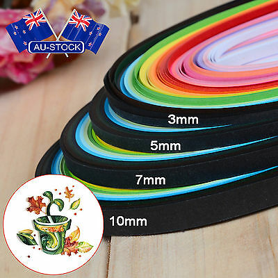 AU Stock 260PCS Multicolor 3/5mm Stripe Paper Quilling Pressure Relief DIY Decor