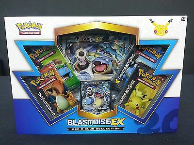 Blastoise EX Box Pokemon Cards TCG Generations Red & Blue Collection New Rare