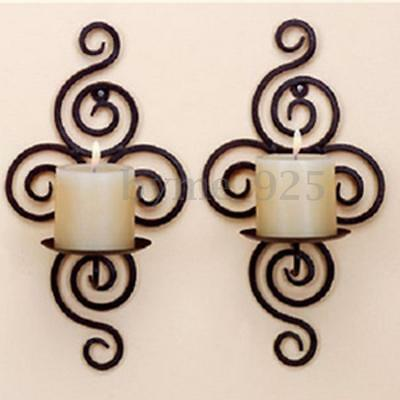 Handmade Iron Hanging Home Wall Sconce Candle Holder Furnishing Articles