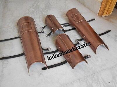 300 Spartan Movie Leg & Arm Guard Set Copper Antique -Movie Roleplay Props Gift