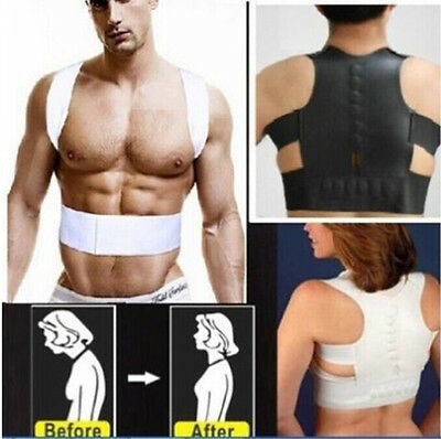 Magnetic Therapy Posture Corrector Body Back Pain Belt Brace Shoulder Support ZF