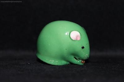 OFFER Rare 1916 Royal Worcester figurine Netsuke Mouse green china figure