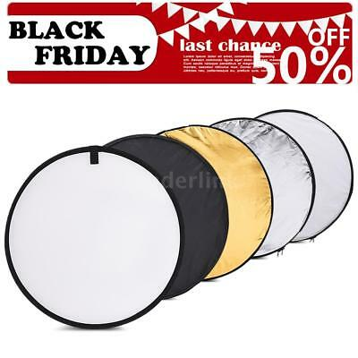 5 in1 60cm Round Light Mulit Collapsible Disc for photography Reflector Diffuser