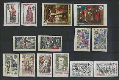 Andorra French - Cept / Theme Europe - Lot Varieties Without Perforated Mnh