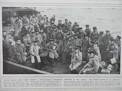 1916 Survivors Of Hms Natal Explosion Royal Navy Wwi Ww1