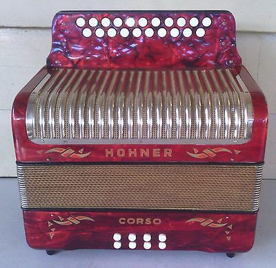 Hohner Corso Button Accordion Accordian Melodeon