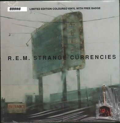 """R.E.M. Strange Currencies - Limited Edition 7"""" Colour Vinyl With Free Badge"""