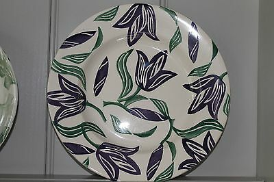 Emma Bridgewater Purple Tulip Dinner Plate - Crazed