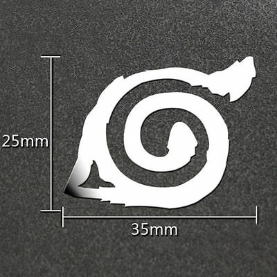 Anime Naruto Silver 3D Metal Sticker For Phone PSP Computer Laptop Car Toys