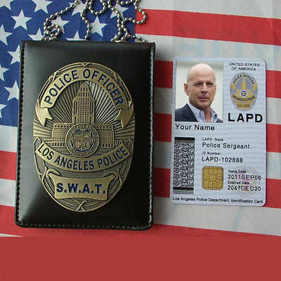 New Los Angeles Police LAPS S.W.A.T. SWAT Department Badge With Holder & Chain