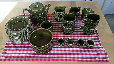 Hornsea heirloom green pottery sellling individually