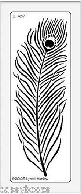 Dreamweaver Stainless Steel Embossing Stencil - Peacock Feather - NEW
