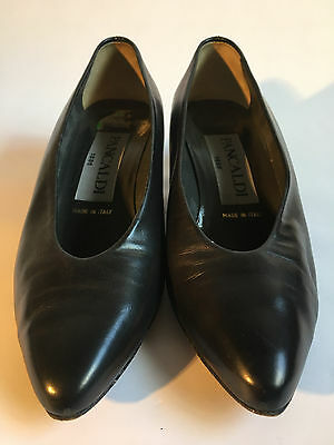 Beautiful Vintage Pancaldi Shoes Leather 5 1/2 Good Condition Italy