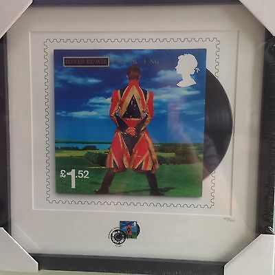 David Bowie Framed Earthling Stamp & Print Limited Edition 950