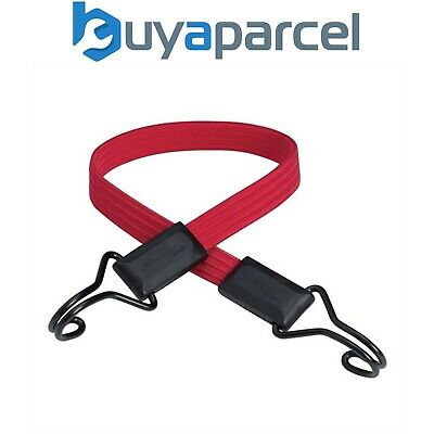 Master Lock MLK3224E Flat Bungee Cord Bike Pannier 60cm Red Double Hook Strap