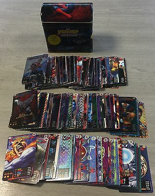 Spiderman Heroes And Villains Power Trading Card Collection, FULL SET WITH TIN