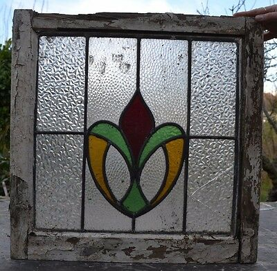 Leaded light stained glass window. S435b. WORLDWIDE DELIVERY!