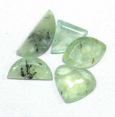 181 Cts 5 Pec Bulk Lot 100% Natural African PREHNITE Mix Faceted Cut Gemstone
