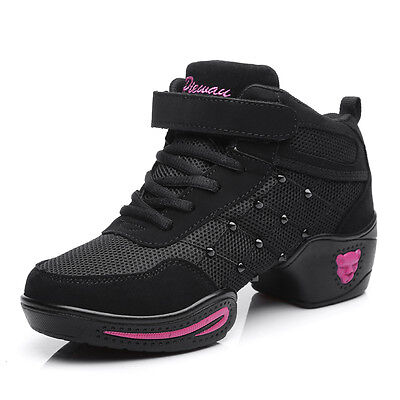 Casual Dancing Sneakers Women Breathable Mesh Modern Jazz Hip Hop Dance Shoes
