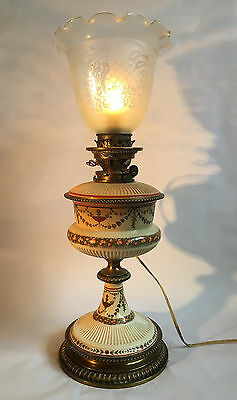 Vintage Hinks And Sons Lamp - Electric Conversion