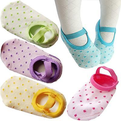 FlyingP 5Pairs Toddler Anti Slip Socks for 8 36 Months Infants Baby Girl...