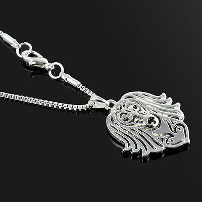 Long Haired Dachshund Necklace Silver ANIMAL RESCUE DONATION