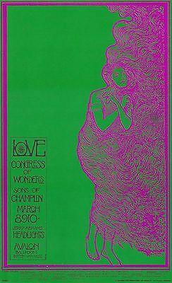 The Love 1968 FD 109 LOVELADY Avalon Ballroom Poster