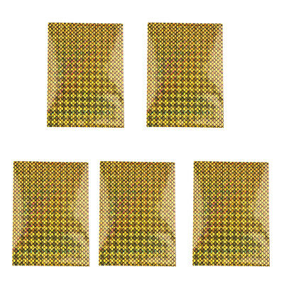 10x7cm Flasher/Dodger/Lure Holographic Laser Prism Fishing Lure Tape Gold