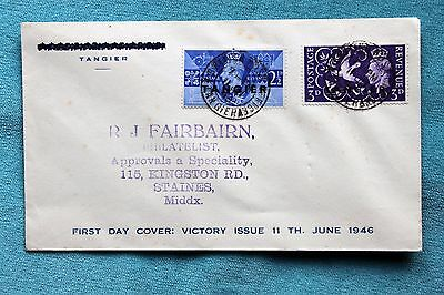 First Day Cover Tangier Victory Issue June 1946