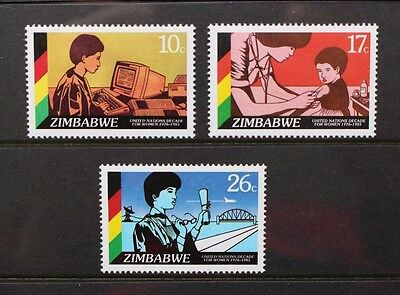 ZIMBABWE 1985 UN Decade for Women. Set of 3. Mint Never Hinged. SG685/687.