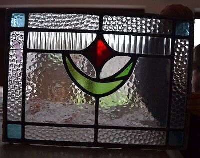 Leaded light stained glass window panel. B044. WORLDWIDE DELIVERY!!!