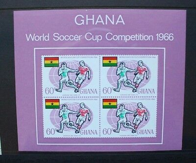 GHANA 1966 World Cup Football. SOUVENIR SHEET. Mint Never Hinged. SGMS434.