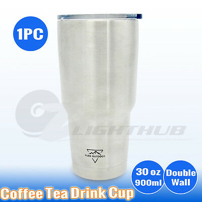 Stainless Steel Coffee Tea Mug Cup Double Wall Home Office Car Water Bottle 30oz