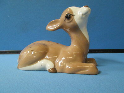 "Vintage Studio Szeiler Made in England Large Fawn Figurine 5.2"" H"