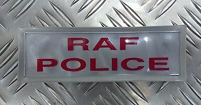 Genuine British Royal Air Force Police RAFP Hi Viz Reflective Jacket Patch Badge