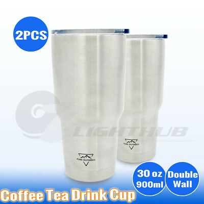 2L Double Wall Large Outdoor Water Bottle Camping Travel Stainless Steel Kettle