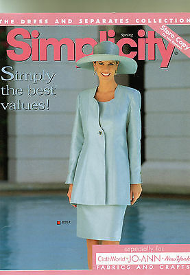 1998 SIMPLICITY STORE CATALOG Store Counter Display ~ PATTERNS 90's Fashion
