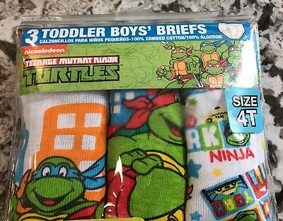 Nwt 3-Pack Toddler Boys Tmnt Briefs Size 4T