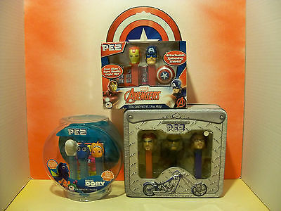 Huge Pez Collector Gift Lot. Dory, Orange County Choppers, and The Avengers WOW