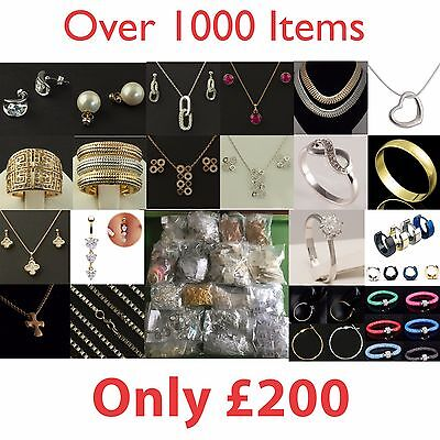 Wholesale Jewellery Lot - Retail Clearance rings necklaces pendants earrings etc