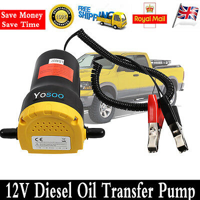 12V Diesel Oil Fluid Transfer Extractor Pump Electric Suction Truck Trunk Access